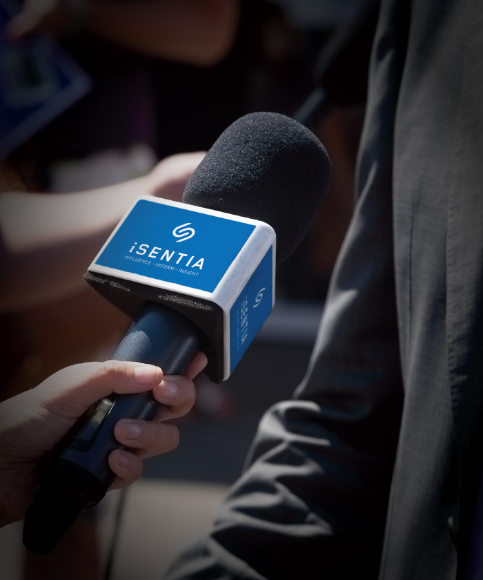 isentia logo on microphone