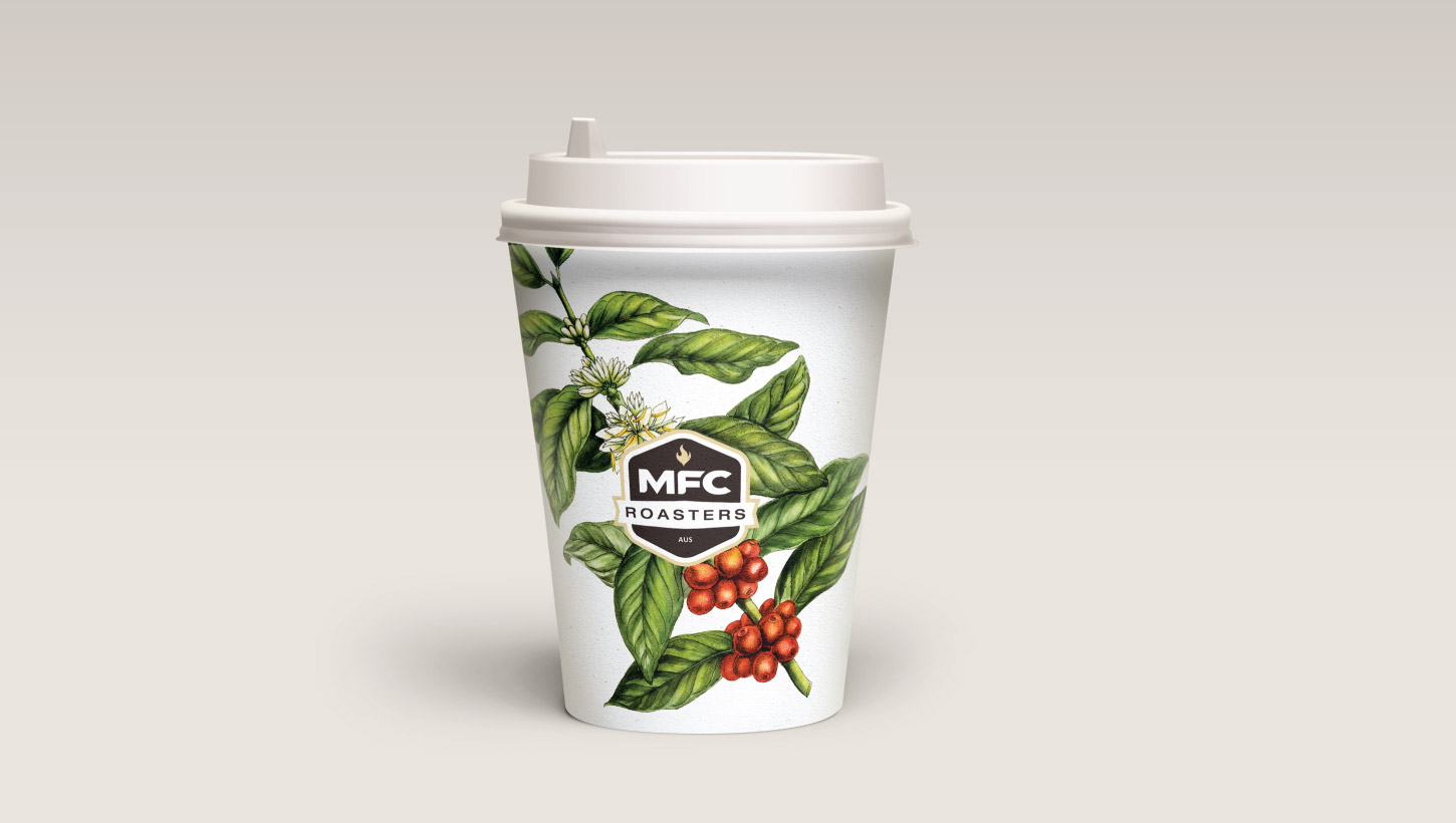 MFC roasters takeaway coffee cup packaging